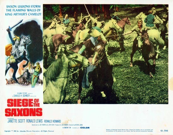 SIEGE OF THE SAXONS 1963 Lobby Card 2 Janette Scott