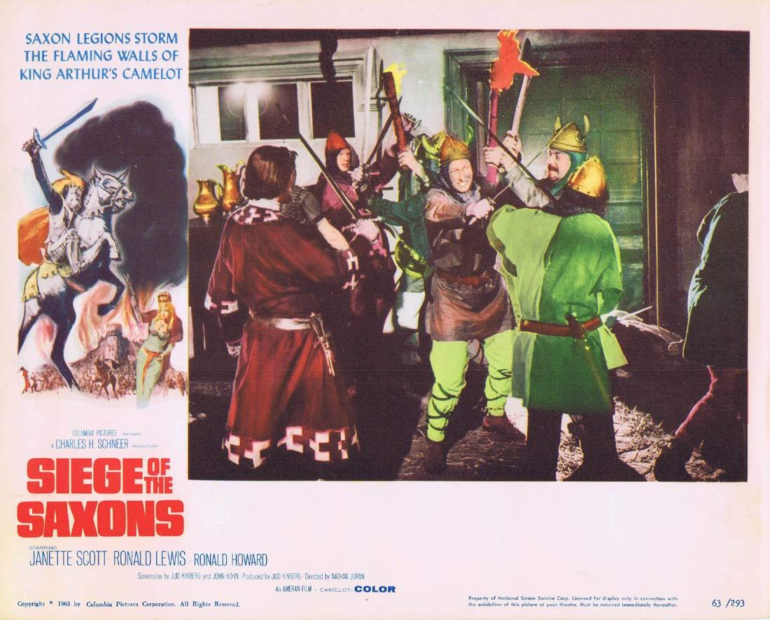 SIEGE OF THE SAXONS 1963 Lobby Card 6 Janette Scott