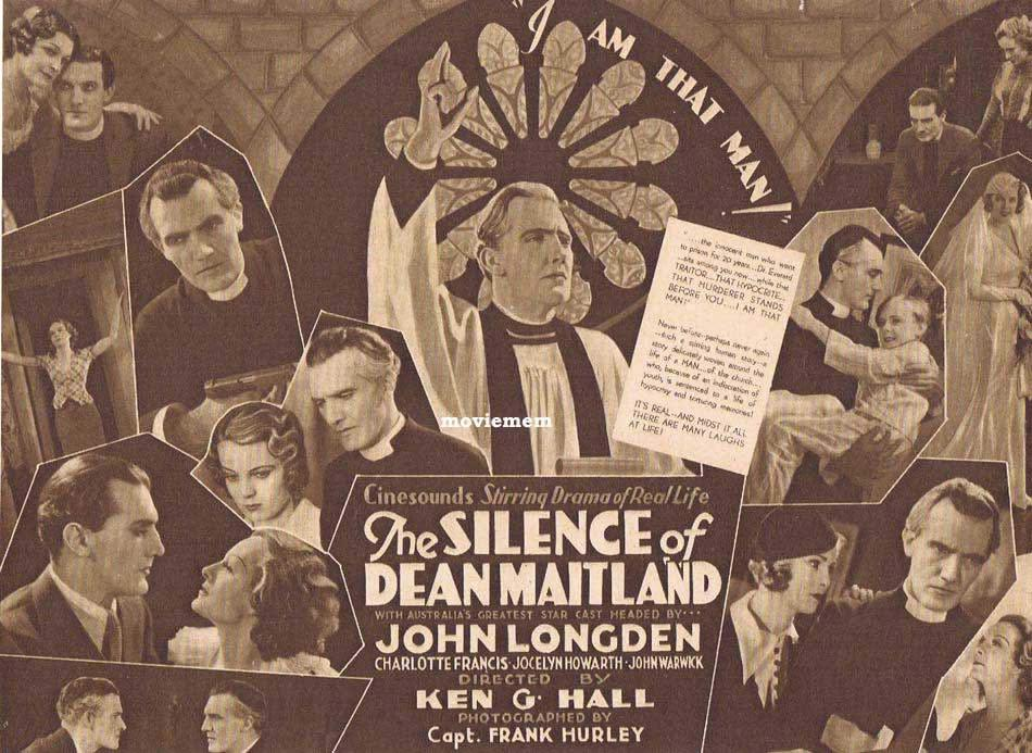THE SILENCE OF DEAN MAITLAND Original Vintage Movie Herald KEN G.HALL Australian Cinema Classic