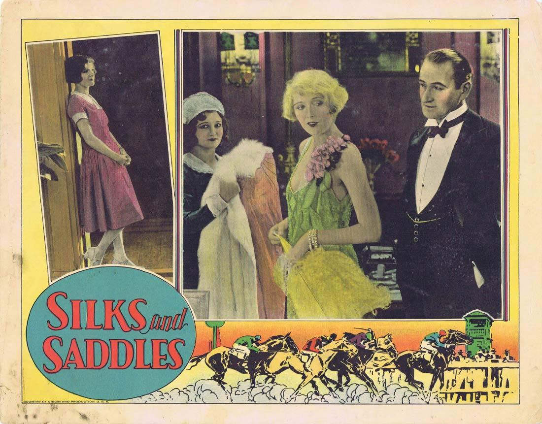 SILKS AND SADDLES Lobby Card 3 Horse Racing film Marion Nixon 1929