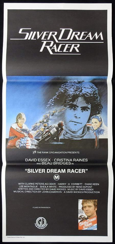 SILVER DREAM RACER Original daybill Movie Poster DAVID ESSEX Motorcycle Biker