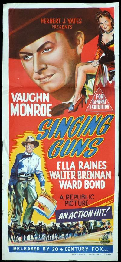 SINGING GUNS Original Daybill Movie Poster Vaughn Monroe