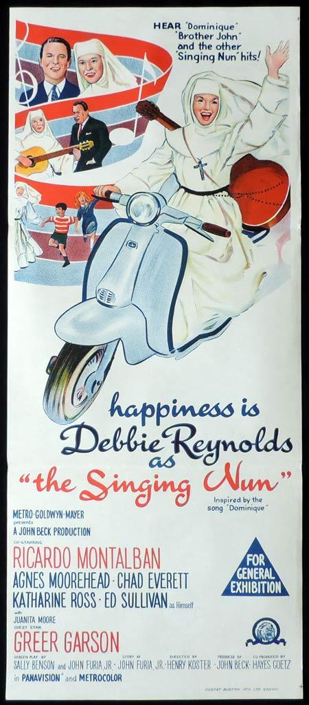 THE SINGING NUN Original Daybill Movie Poster Debbie Reynolds