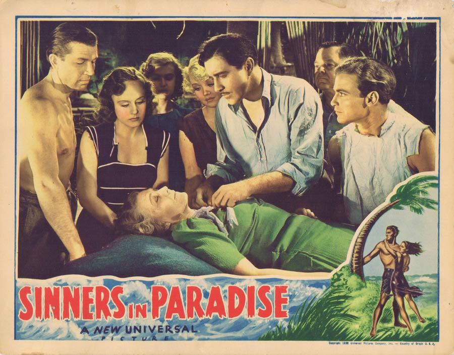 SINNERS IN PARADISE Lobby Card 1938 Madge Evans