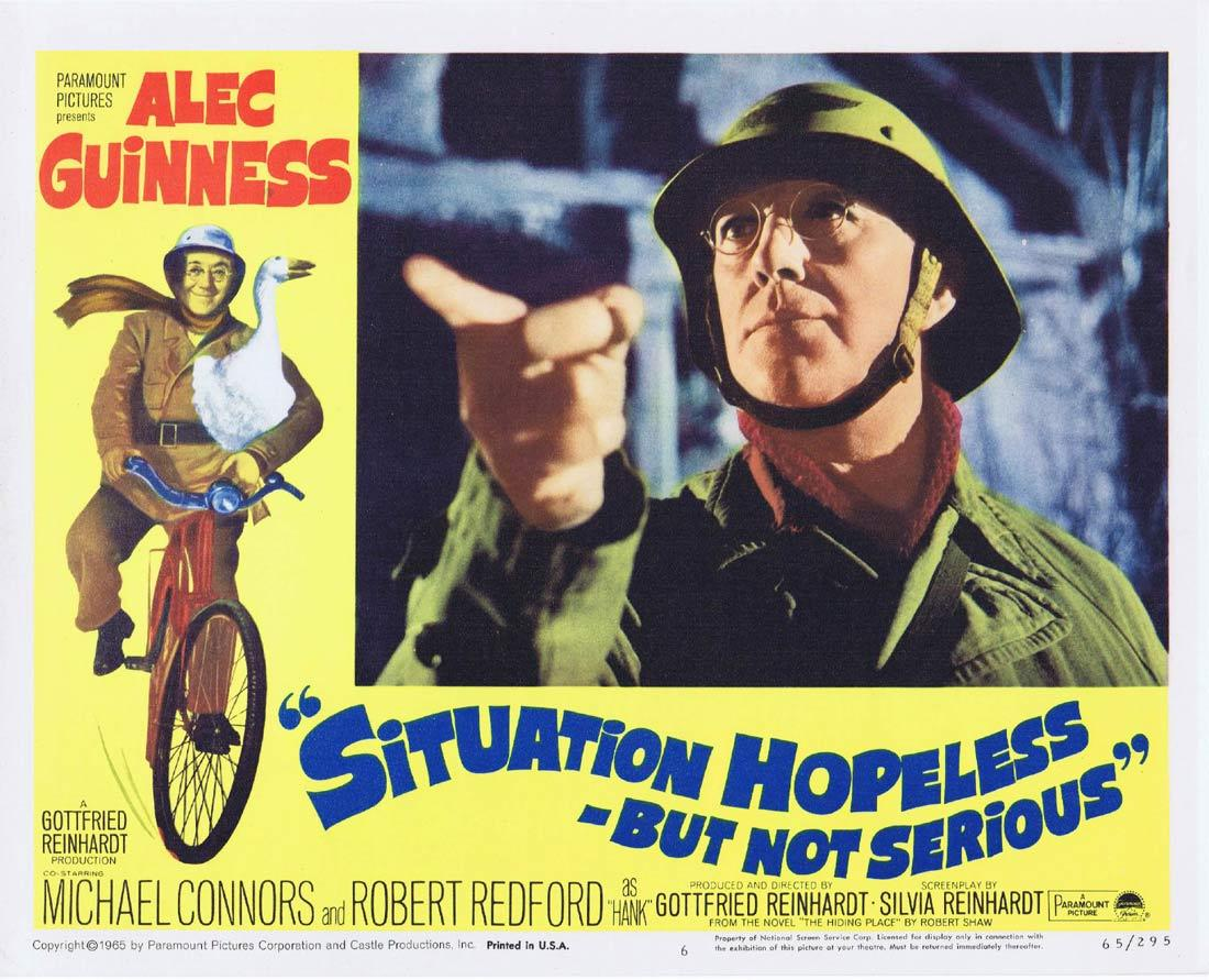 SIUTATION HOPELESS BUT NOT SERIOUS Lobby Card 6 Alec Guinness Mike Connors Robert Redford