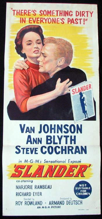 SLANDER Movie poster Van Johnson Ann Blyth