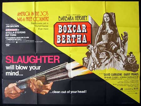 SLAUGHTER/BOXCAR BERTHA '72-Double Bill British Quad