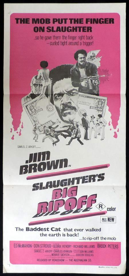 SLAUGHTER'S BIG RIP OFF Original Daybill Movie Poster Blaxploitation Jim Brown
