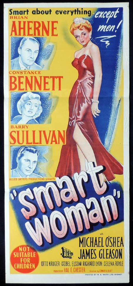 SMART WOMAN Original Daybill Movie Poster Constance Bennett Brian Aherne