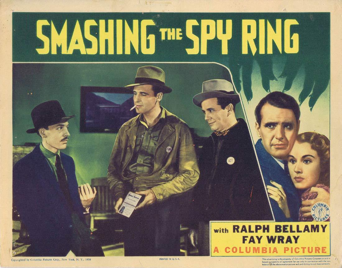 SMASHING THE SPY RING Original Lobby Card 3 Ralph Bellamy Fay Wray Regis Toomey 1937