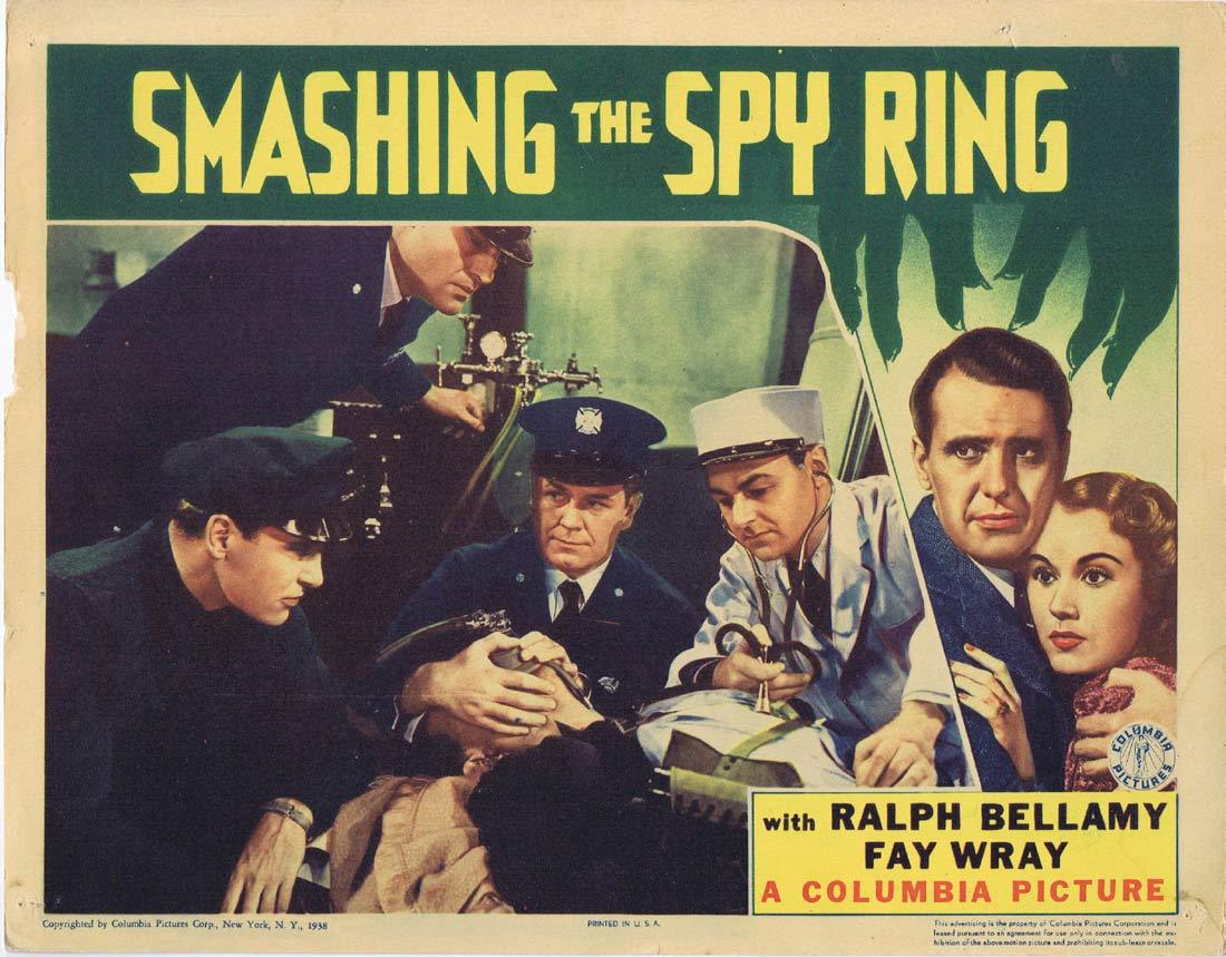 SMASHING THE SPY RING Original Lobby Card 5 Ralph Bellamy Fay Wray Regis Toomey 1937