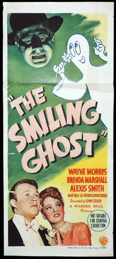 THE SMILING GHOST Daybill Movie Poster 1941 Alexis Smith Waybe Morris
