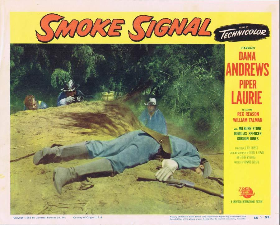 SMOKE SIGNAL Lobby Card 5 Dana Andrews 1955 Western American Indian
