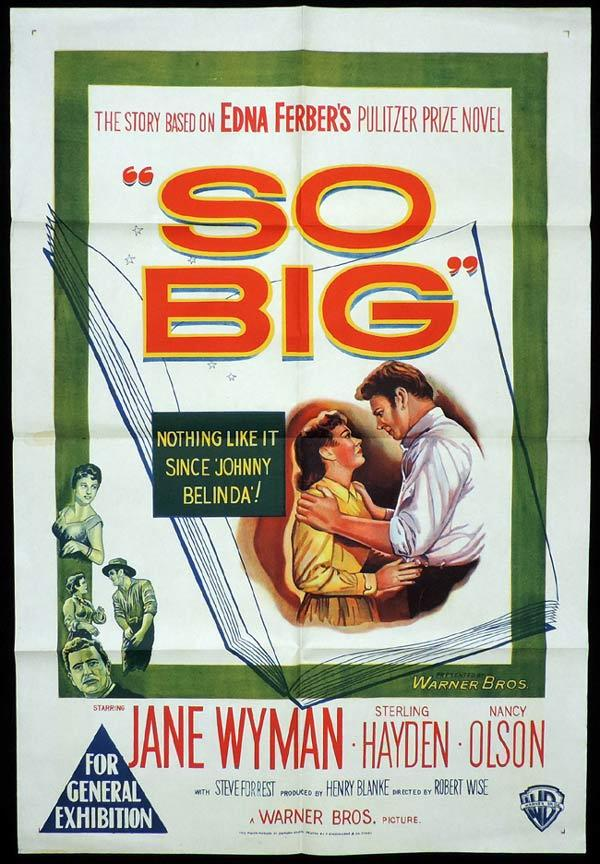 SO BIG One Sheet Movie Poster Jane Wyman