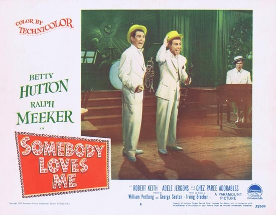 SOMEBODY LOVES ME Lobby Card 8 1952 Chez Paree Adorables