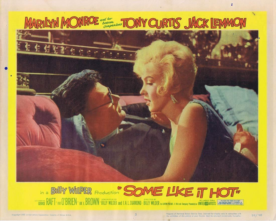 SOME LIKE IT HOT Lobby Card 5 Marilyn Monroe Tony Curtis Jack Lemmon