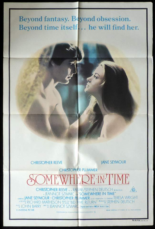 SOMEWHERE IN TIME One Sheet Movie Poster Jules Christopher Reeve