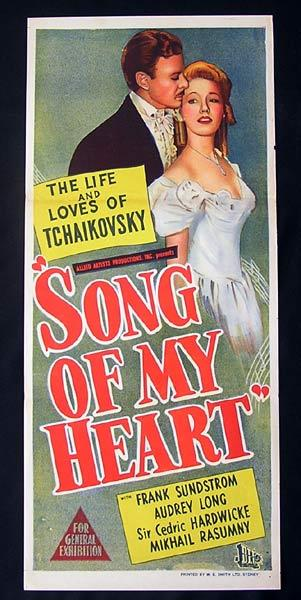 SONG OF MY HEART 1948 Tchaikovsky RARE Daybill Movie Poster