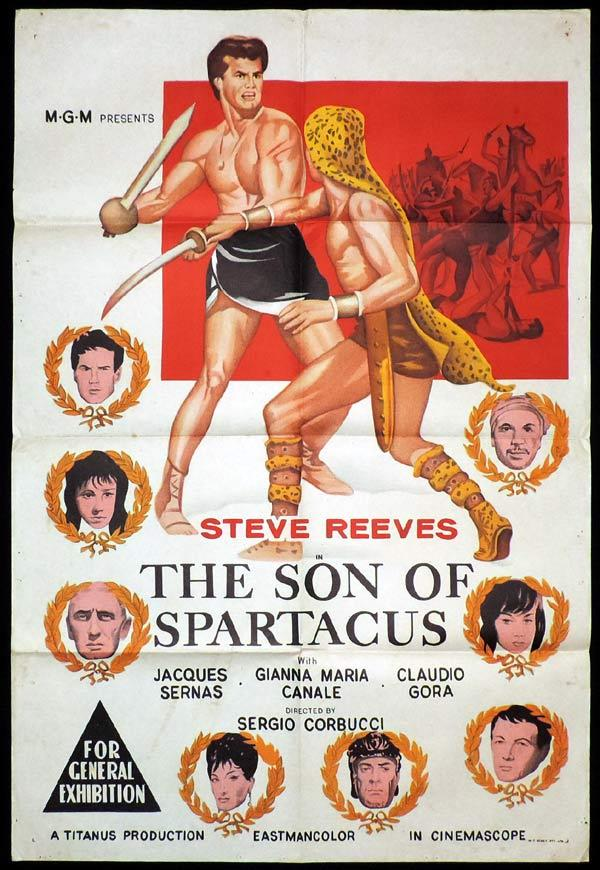 SON OF SPARTACUS One Sheet Movie Poster William Holden