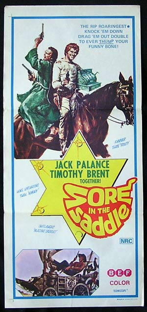 SORE IN THE SADDLE Daybill Movie poster Jack Palance