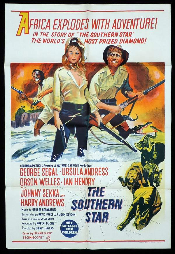 SOUTHERN STAR One Sheet Movie Poster Ursula Andress in Africa