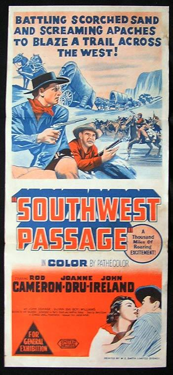 southwest passage movie poster 1954 joanne dru wagon train