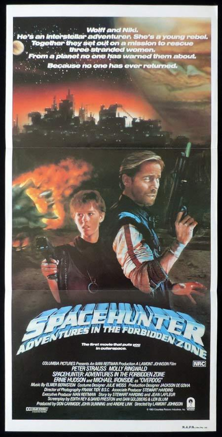 SPACE HUNTERS Original Daybill Movie Poster Molly Ringwald