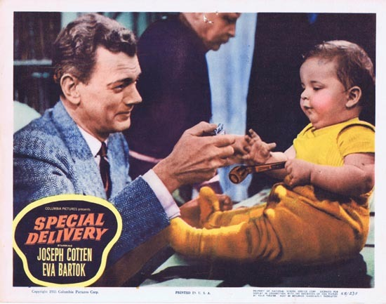 SPECIAL DELIVERY Lobby Card 3 1955 Joesph Cotton Eva Bartok