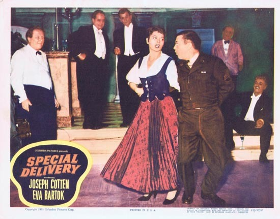 SPECIAL DELIVERY Lobby Card 6 1955 Joesph Cotton Eva Bartok