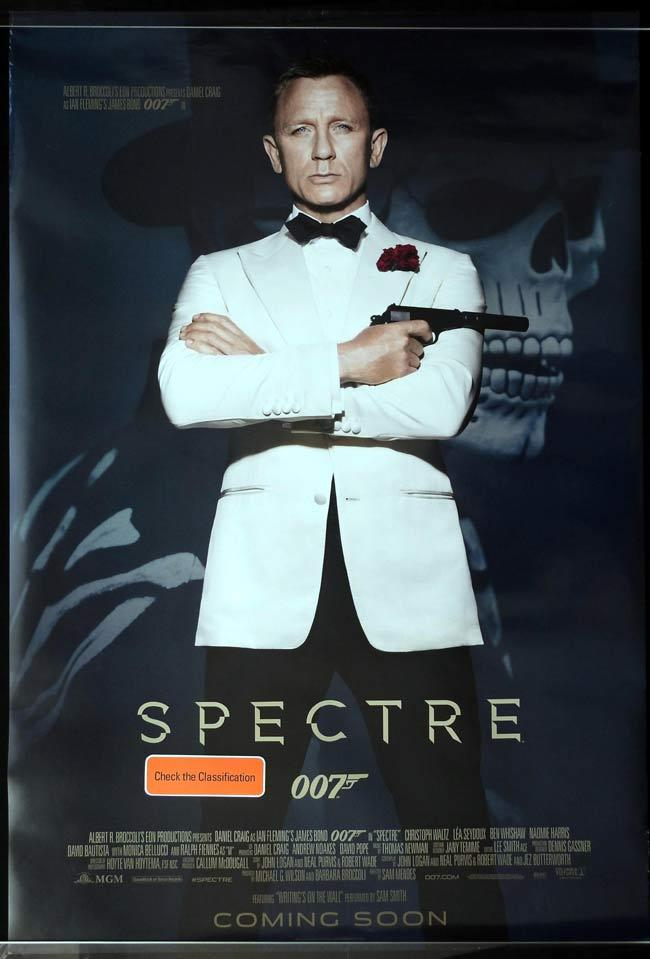 SPECTRE Australian One sheet movie poster A Daniel Craig James Bond