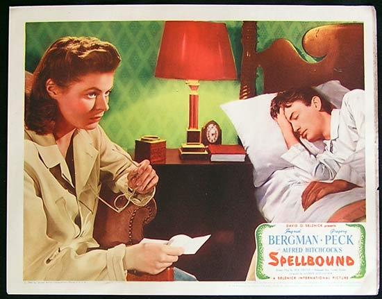 SPELLBOUND Lobby card 8 1945 Alfred Hitchcock Bergman Peck
