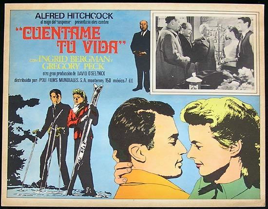 SPELLBOUND Mexican Lobby card 1945 Alfred Hitchcock Bergman Peck