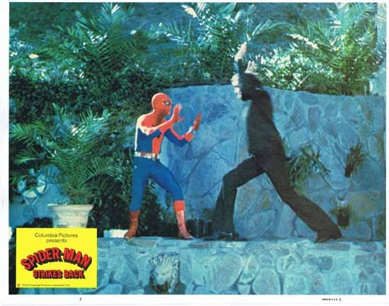 SPIDER MAN STRIKES BACK 1978 Nicholas Hammond Rare Original Lobby Card 7 aka SPIDER-MAN