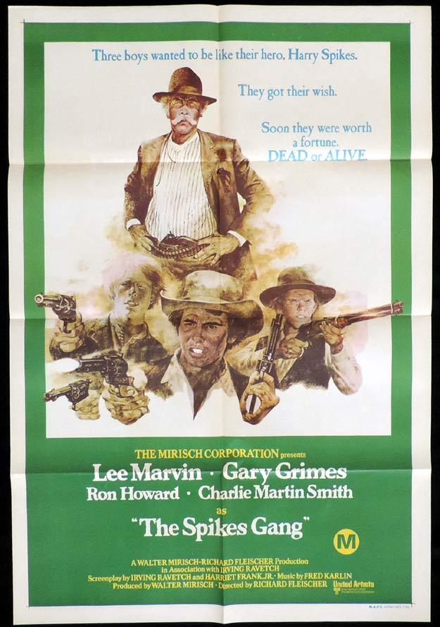 THE SPIKES GANG One Sheet Movie Poster Lee Marvin Ron Howard