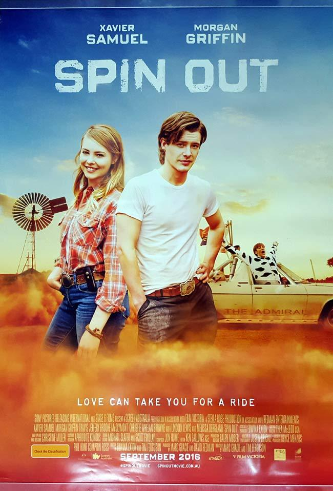 SPIN OUT ROLLED One sheet Movie Poster Xavier Samuel Morgan Griffin