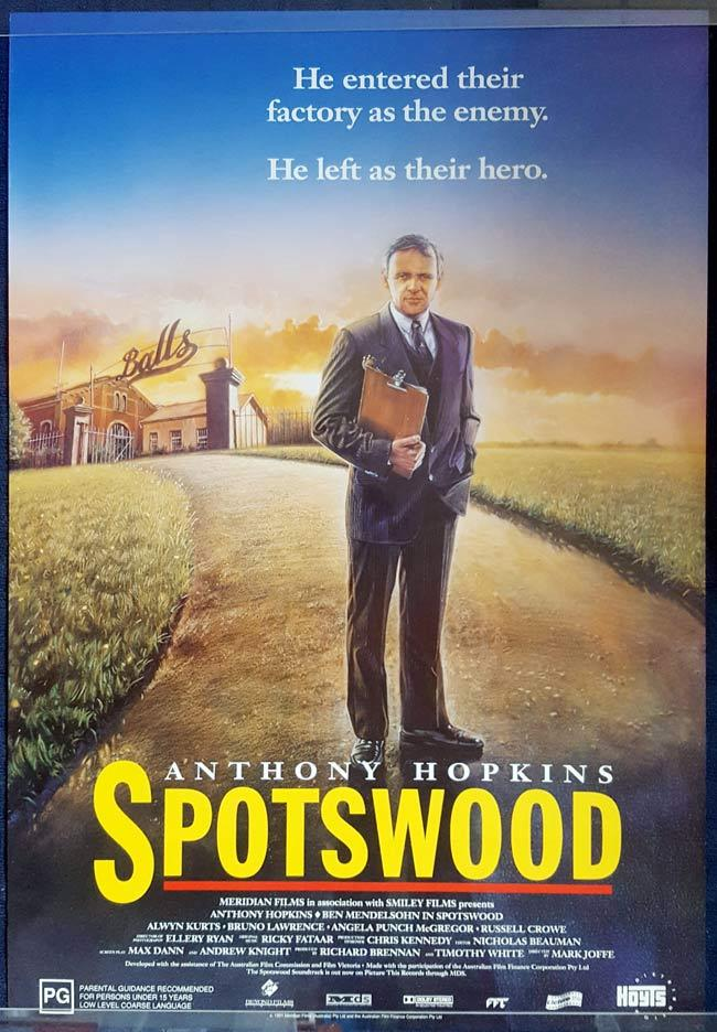 "SPOTSWOOD Australian One Sheet Movie Poster ROLLED Anthony Hopkins ""B"""