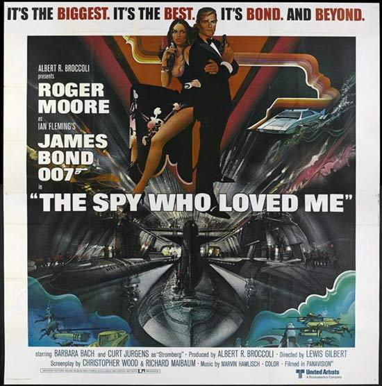 SPY WHO LOVED ME '77 James Bond US 6 sheet poster PEAK art