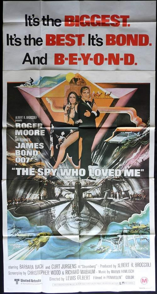THE SPY WHO LOVED ME Original Australian Three sheet Movie Poster ROGER MOORE James Bond