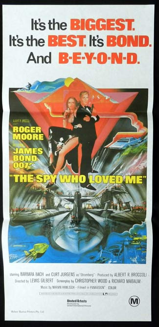 SPY WHO LOVED ME James Bond Australian daybill poster PEAK art Robert Burton