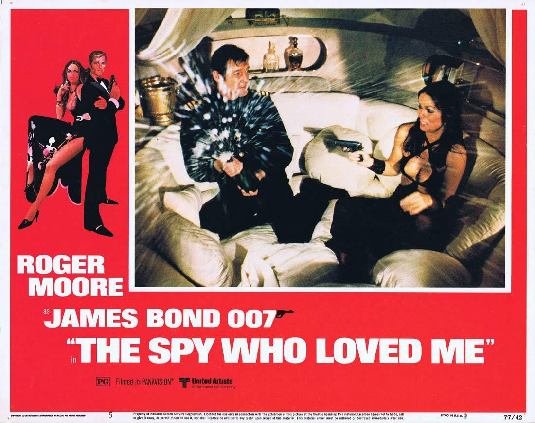 THE SPY WHO LOVED ME Original Lobby Card 5 Roger Moore Richard Kiel Jaws