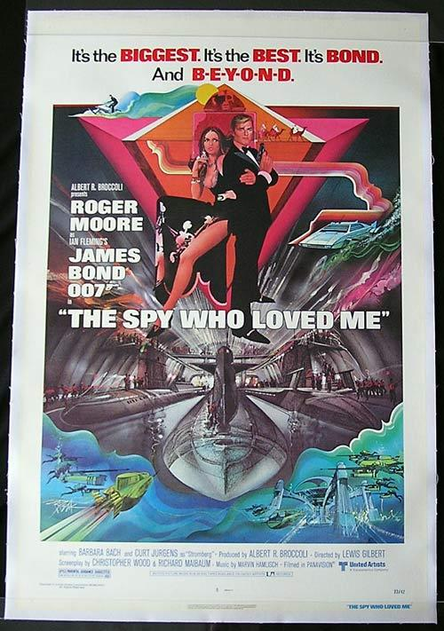 SPY WHO LOVED ME '77 James Bond US 1 sheet Movie poster PEAK art