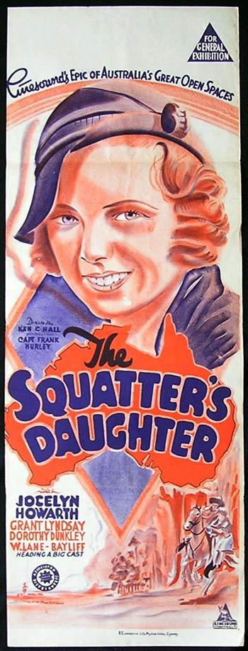 The Squatter's Daughter, Ken G. Hall, Constance Worth, Grant Lyndsay, John Warwick, Fred MacDonald, W. Lane-Bayliff, Dorothy Dunckley, Owen Ainley, Cathleen Esler, George Cross, Claude Turton, George Lloyd, Les Warton, Katie Towers, Will Gilbert, Victor Knight