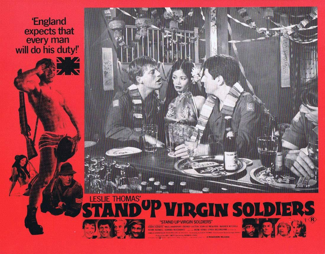 STAND UP VIRGIN SOLDIERS Original Australian Lobby Card 1 George Layton