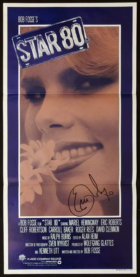 STAR 80 Australian Daybill Movie Poster Autographed Eric Roberts