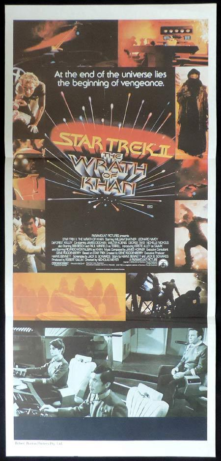 STAR TREK II Original Daybill Movie Poster Sci Fi William Shatner Leonard Nimoy