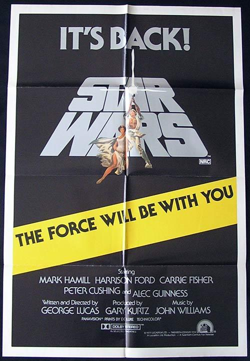 STAR WARS ITS BACK! 1981 Ford Hamill Australian 1sh movie poster