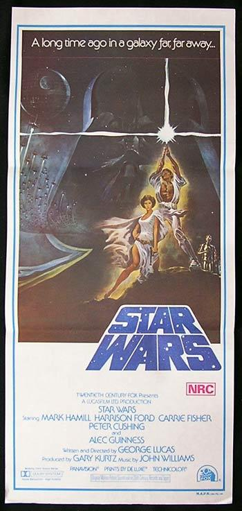 STAR WARS 77 Ford Hamill TOM JUNG Australian daybill PR - Star Wars (1977)