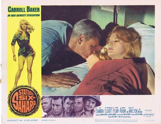 STATION SIX SAHARA Lobby Card 1 Carroll Baker