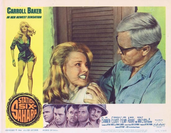 STATION SIX SAHARA Lobby Card 5 Carroll Baker