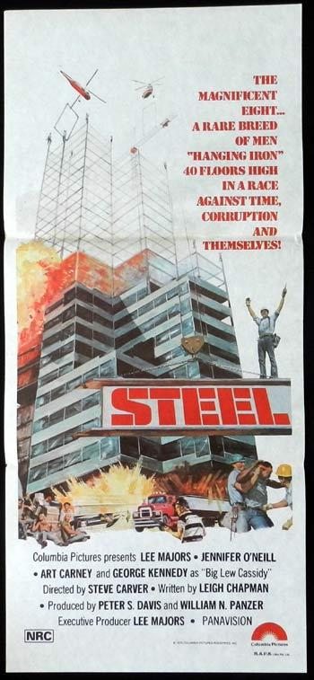 STEEL 1979 Daybill Movie poster Lee Majors